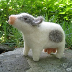 tcm needle felted cow